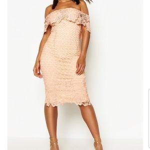 Crotchet lace midi dress
